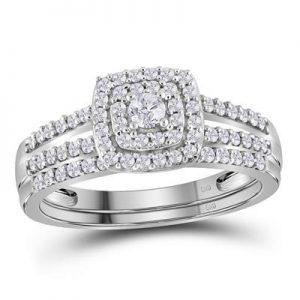 Dúo de Mujer c/Diamantes - 0.50 CTW - 10K