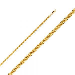 Cadena - 3.7mm - Tejido Rope (Hollow) - 14K