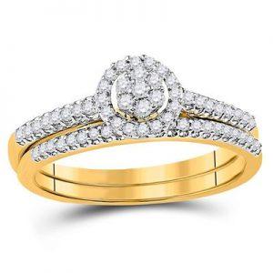 Dúo de Mujer c/Diamantes - 0.33 CTW - 10K