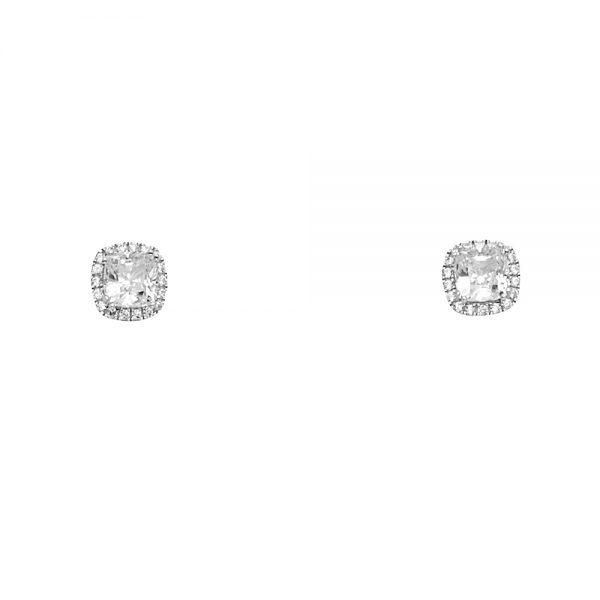 Dormilonas Halo Cushion - 14K - Zirconias
