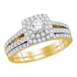 Dúo de Mujer c/Diamantes (Certificado)- 1.00 CTW - 14K