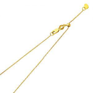 Cadena - 1.0mm - Ajustable - Tejido Rolo Cable - 14K