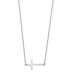 Collar Cruz Acostada - 14K
