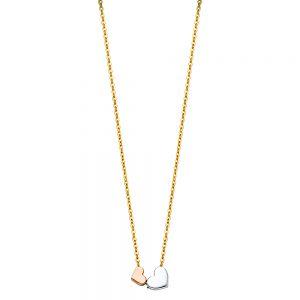 Collar 2 Corazones - 14K