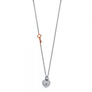 Collar c/Corazón - 14K - Zirconias