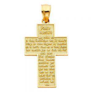 Cruz Padre Nuestro - 14K