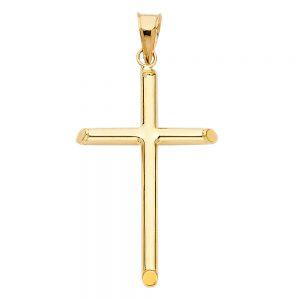 Crucifijo Liso - 14K