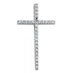 Crucifijo - 14K - Zirconias