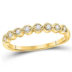Aro c/Diamantes - 0.10 CTW - 10K
