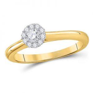 Solitario c/Diamantes - 0.25 CTW - 10K