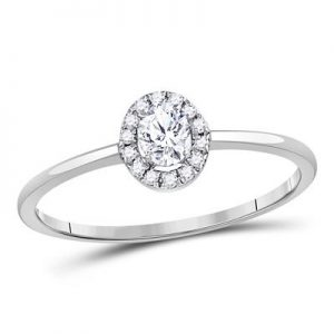 Solitario c/Diamantes - 0.33 CTW (0.20CRD) - 10K