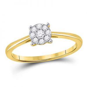 Solitario c/Diamantes - 0.13 CTW - 10K