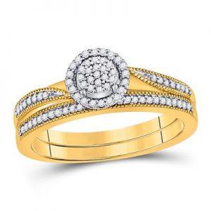 Dúo de Mujer c/Diamantes - 0.20 CTW - 10K