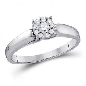 Solitario c/Diamantes - 0.20 CTW - 10K