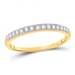 Aro c/Diamantes - 0.13 CTW - 14K