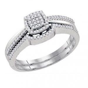 Dúo de Mujer c/Diamantes - 0.25 CTW - 10K